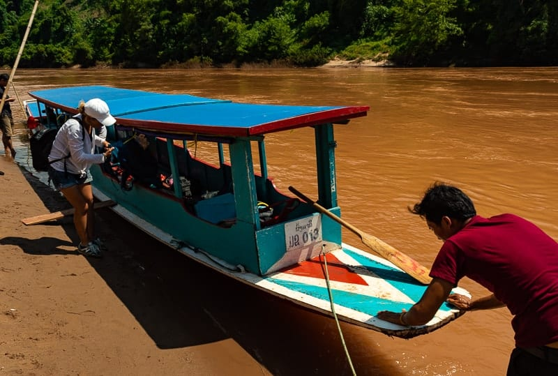 The Nam Ou river journey between Muang Khua and Nong Khiaw
